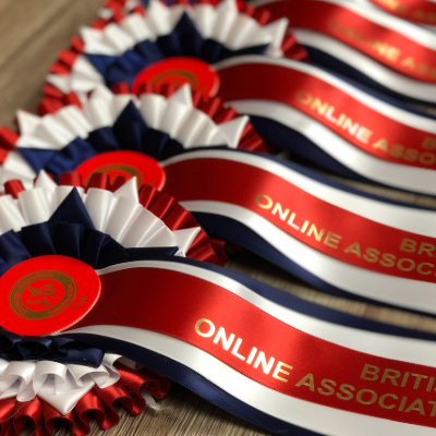 BD Online Associated Championship rosettes