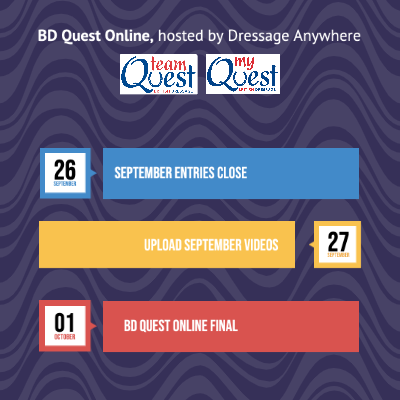 BD Quest Online logos and schedule