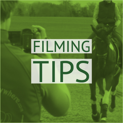 Online dressage filming tips graphic