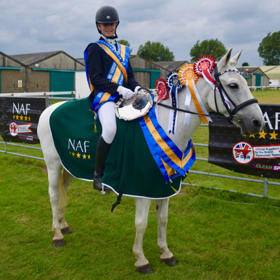 Gracie and Danny winning two national titles at the Riding Club Champs