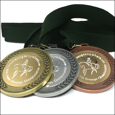 Gold, silver and bronze RDA medals