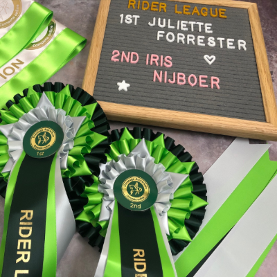 Online dressage rider league rosettes